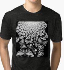 Butterflies Tessellation 1950 - Maurits Cornelis Escher Tri-blend T-Shirt