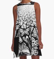 Butterflies Tessellation 1950 - Maurits Cornelis Escher A-Line Dress