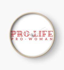 Pro-life, pro-woman Clock