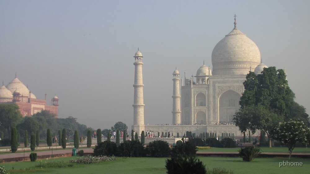 Taj Mahal - early morning by pbhome