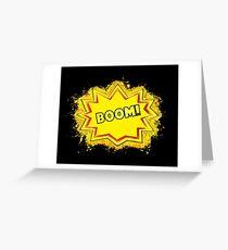 The eruption comic glowing Art Greeting Card