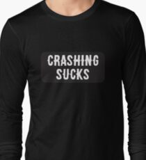 Cool Motorcycle Or Funny Helmet Stickers And Bikers Gifts Long Sleeve T-Shirt
