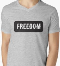 Freedom - Cool Motorcycle Or Funny Helmet Stickers And Bikers Gifts Men's V-Neck T-Shirt