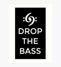 Lámina artística Suelta el Bass 69 Blanco