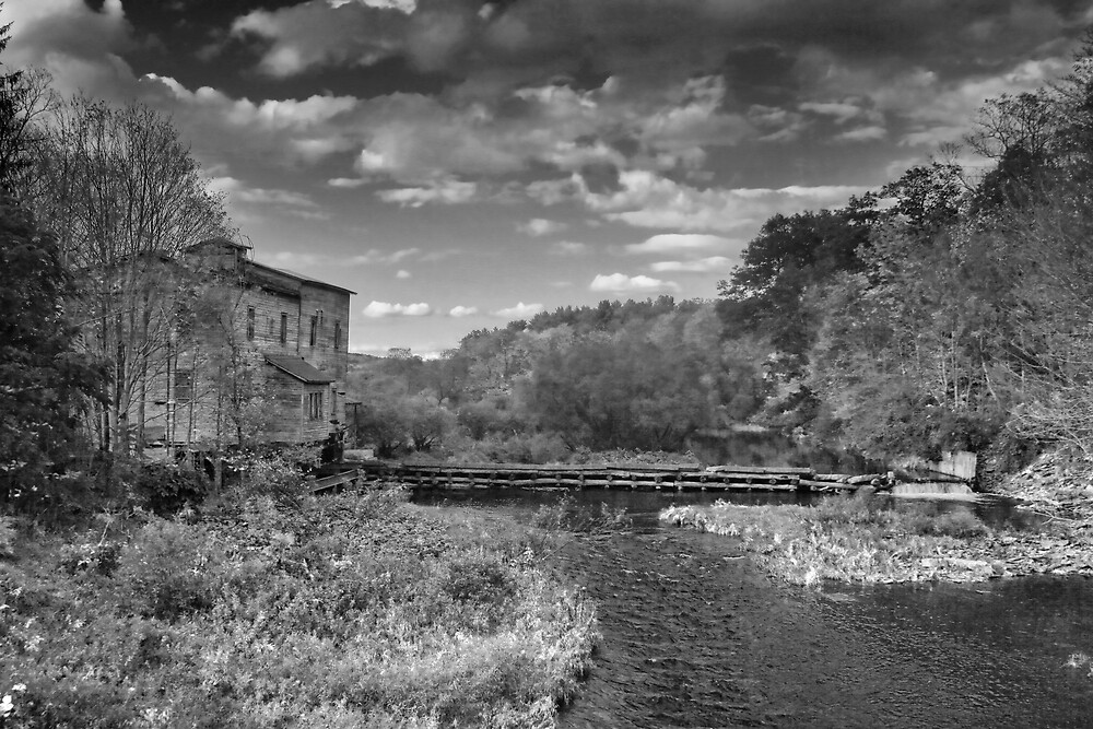 Old Mills Black and White by GPMPhotography