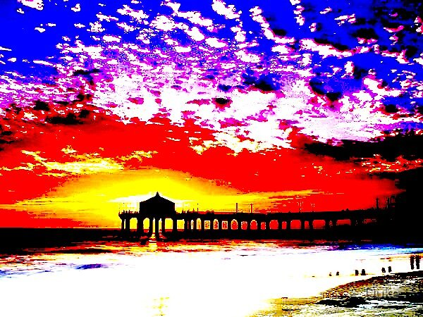 Distorted sunset... by Duke .