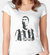 Cristiano Ronaldo Juventus Women's Fitted Scoop T-Shirt