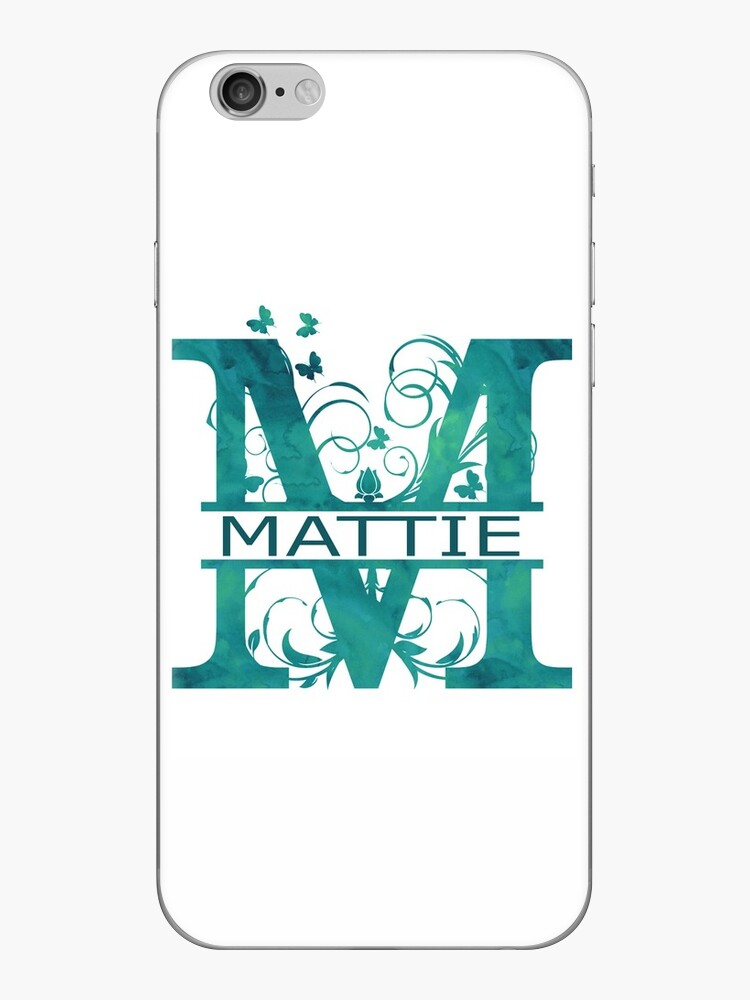 Mattie | Girls Name Monogram | Watercolor and Butterflies by PraiseQuotes