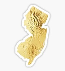 new jersey gold outline Sticker