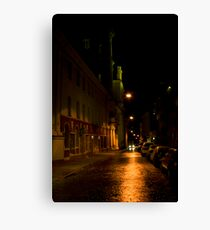 Car in street (My city)  Canvas Print