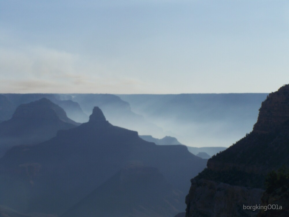 Smoke Filled Canyon by borgking001a