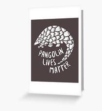 Rette die Pangolins, Pangolin lebt von Bedeutung Grußkarte