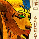 Akhenaton cartoon  by Marilyns