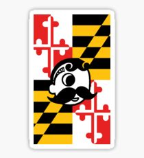 Natty Boh MD Flag Sticker