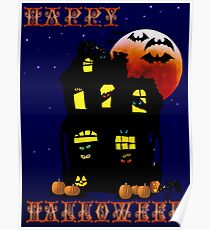 Happy Halloween Mansion Poster
