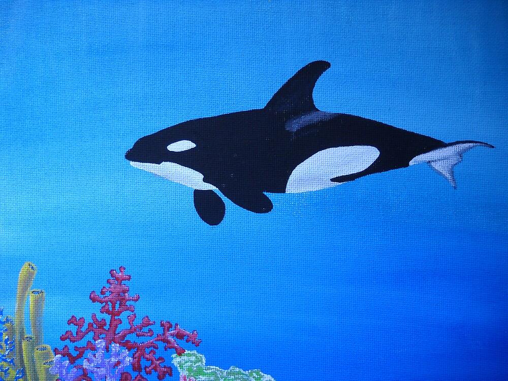 Swimming Orca by sweetatsea