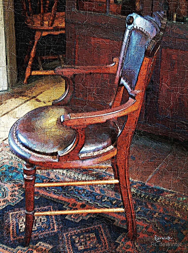 Sunlight on Leather Chair by RC deWinter
