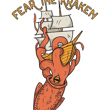 Kraken sea ship scared monster monster by MyShirt24