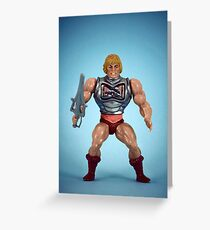 He-Man (battle damage) Greeting Card