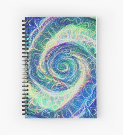 Vortex dragon #DeepDream B Spiral Notebook