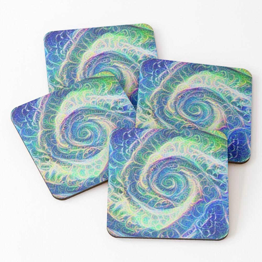 Vortex dragon #DeepDream B Coasters (Set of 4)