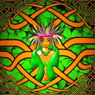 The Goddess Morrigan in a Celtic knot by ZipaC