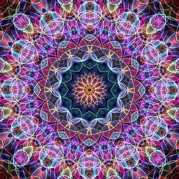 Purple Lotus Flower Mandala by Zand