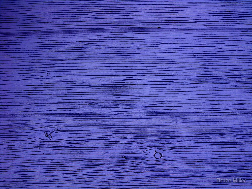 blue wood by Bruce Miller