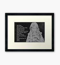 Hail Mary Framed Print