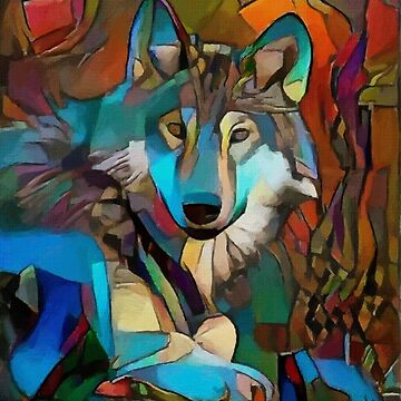 Lobo neon - Léa Roche paintings - Wolf, lobo, wolf by LEAROCHE
