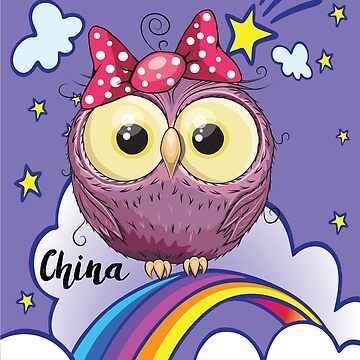 Cute Purple Owl in China / Chinese / Time to Travel With an Owl by ProjectX23