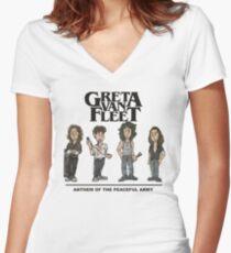 GRETA VAN FLEET MERCH Women's Fitted V-Neck T-Shirt
