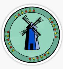 Blue Wildmill Dutch with tulips Sticker