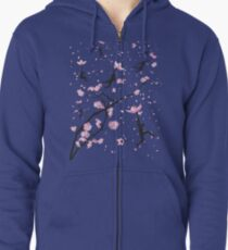 Blossom Flight Zipped Hoodie