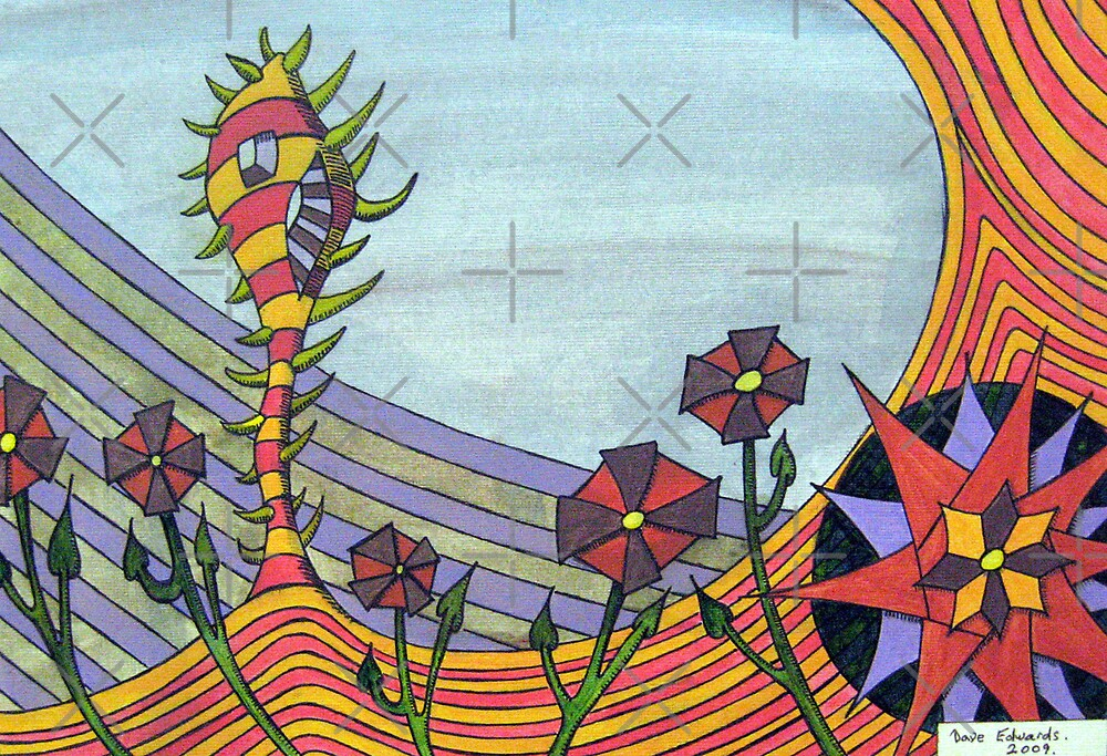 277 - FLORAL DESIGN - 06 - DAVE EDWARDS - MIXED MEDIA - 2009 by BLYTHART