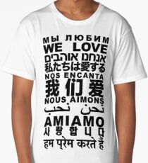 Yandhi - We Love In All Languages Long T-Shirt