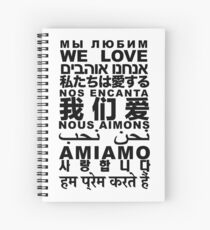 Yandhi - We Love In All Languages Spiral Notebook