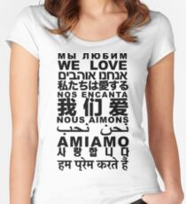 Yandhi - We Love In All Languages Women's Fitted Scoop T-Shirt