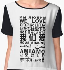 Yandhi - We Love In All Languages Chiffon Top