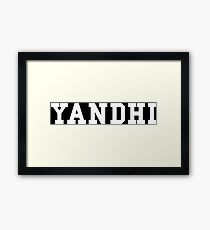 Yandhi Framed Print