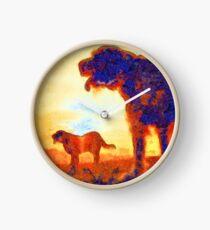 Italian Spinone Silhouettes Clock
