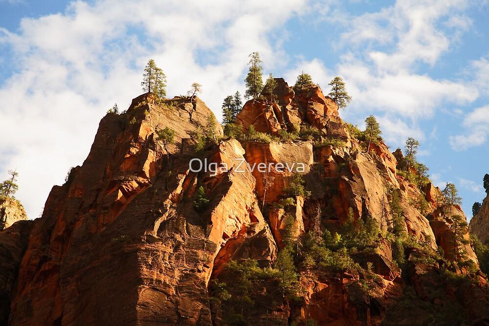 Cliffs, Zion National Park by Olga Zvereva