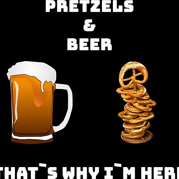 Pretzel and Beer Oktoberfest Sayings Bayern Shirt by hourglass7