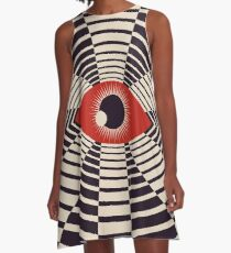 Das alles gaffende Auge A-Linien Kleid