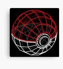 Pokeball 3D Canvas Print