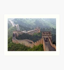 Chine 中国 - The Great Wall 长城 Art Print