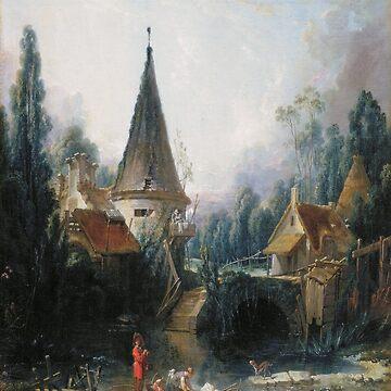 Landscape near Beauvais early-Francois Boucher by LexBauer