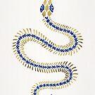 Schlangenskelett - Marine & Gold Palette von Cat Coquillette