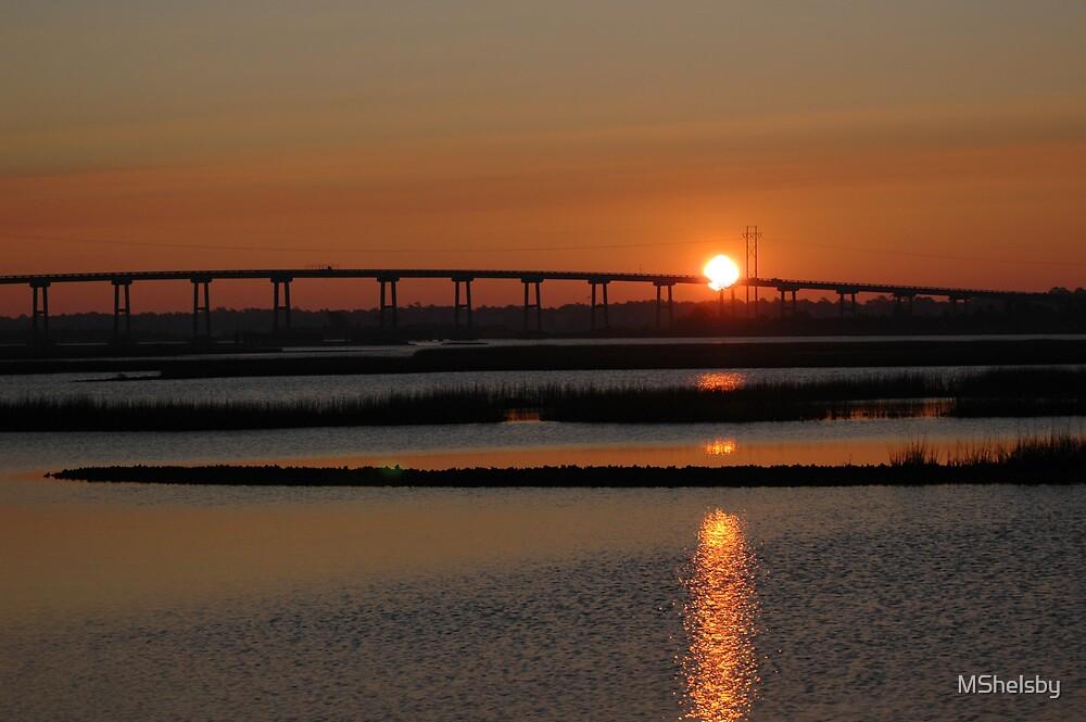 Sunrise Over Marsh by MShelsby