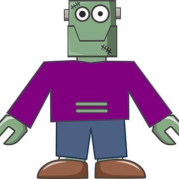 Halloween Frankenstein Cartoon by MartinV96